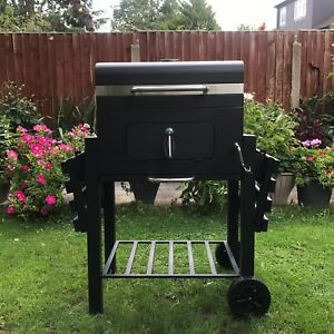 Premium BBQ Barbecue Charcoal Grill Wheels Smoker Portable Party Outdoor Patio