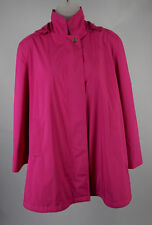 Womens Loro Piana Pink Hooded Storm System Rain Wind Protection Jacket Size 44