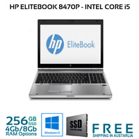 "HP Elitebook 8470p 14"" i5-3360M 2.8Ghz 4GB/8Gb 256Gb SSD Win 10 Pro WIFI"