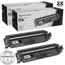 LD © 2p Comp Black Laser Toner Cartridge for HP 17A CF217A MFP M130nw Smart Chip