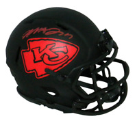 MECOLE HARDMAN AUTOGRAPHED KANSAS CITY CHIEFS ECLIPSE SPEED MINI HELMET BECKETT
