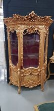 GLASS CASE BAROQUE STYLE SOLID WOOD GOLD GLASS CASE # MB250