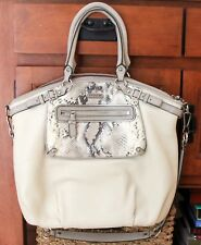 EUC Coach Madison Embossed Exotic Spectator Pocket Lindsey Satchel 19630 $908