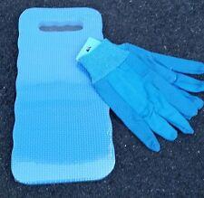 Outdoor Blue Foam Gardening Kneeling Pad Knee Mat with Garden Gloves