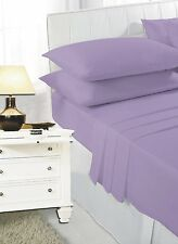 Fitted and Flat Sheet Set With Pillow Case Single Double Super King Size Bedding