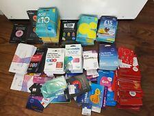 300+ Super Job Lot Of Sim Cards Various Providers