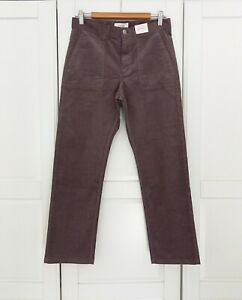 Per Una M&S Grey Needle Cord Straight Ankle Grazer Trousers BNWT UK12