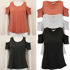 Cut Out Casual Regular Size Tops & Blouses for Women