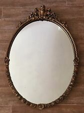 "Vintage Mirror 28 x 42"" Gold Hollywood Regency framed antique Gilt baroque"