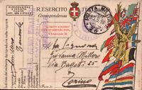 1918 - FRANCHIGIA POSTA MILITARE 76 TENENTE 5° RGT GENIO ZONA DI GUERRA C11-302