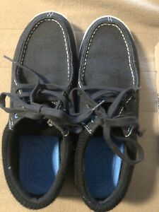 Ocean Minded Crocs Mens Shoes Sz 12.5 Minoa Lace Up Moccasin Black Suede Nubuck