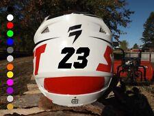 2-inch Custom Dirt Bike Helmet Number Stickers | Vinyl Motocross Decals Helmets