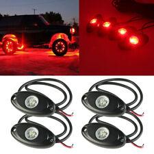 4x High Power 9W LED Rock Light Red Univrsal Underbody Lamp For RV UTV ATV JEEP