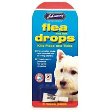 PET 4 WEEK PACK SMALL DOG PUPPY FLEA TICK DROPS SKIN TREATMENT