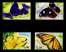 NIUAFO'OU, SCOTT # 225 - 228, SET OF 4 BUTTERFLIES, YEAR 2000, MINT NEVER HINGED