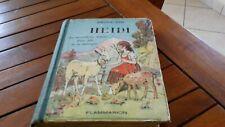 livre ancien HEIDI - JOHANNA SPYRI-Illustr. by JODELET -1950-free port gratuit!