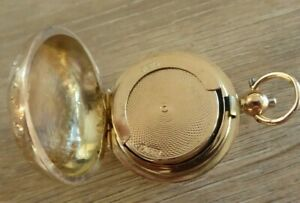RARE ANTIQUE SOLID 9CT GOLD SOVEREIGN CASE DATES c1911 .