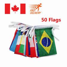 50 pcs Countries String Flag International World bar party Banner Bunting