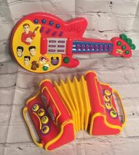 The Wiggles Sing & Dance Toys Guitar & Accordion Musical Instrument Toy Lot of 2