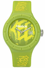 REEBOK Training Warmup Graffity Green Yellow Analog Watch RF-TWG-G3-PGPG-GY