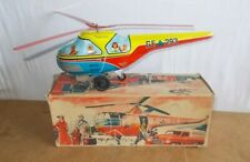 Vintage tin toy - TECHNOFIX Germany - Friction HELICOPTER GE 293 with box 50/60s