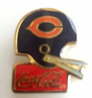 Chicago Bears Coca-Cola Metal Helmet Pin Vintage 1985 NFL Licensed  L3