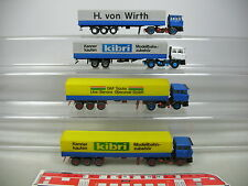 AI785-0,5# 4x Kibri (?) H0 Sattelzug/LKW/Lastwagen DAF: Wirth etc