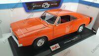 MAISTO 1:18 Diecast Model Car 1969 Dodge Charger R/T in Orange