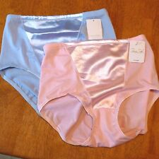 Lot of 2 VTG Panties Full Coverage Briefs Satin Silky Stretch Sissy Princess 7