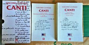 Canti, Giacomo Leopardi, Emilio Peruzzi, cofanetto 2 voll., Bur 1998