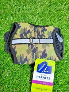**NEW**  Top Paw Reflective Army Greens Camo padded dog harness/vest XX Small
