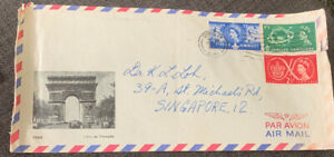 1957 Airmail UK-Singapore World Scout Jubilee Jamboree Cover