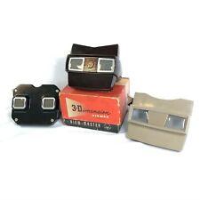 Lot of THREE Vintage 1950s+ Sawyers View-Master Viewers Bakelite Plastic w/ Box!