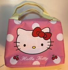 Hello Kitty Cloth School Lunch Bag Cooler Picnic Carrier Insulated Ships USA New