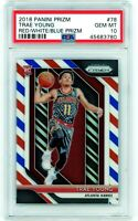 TRAE YOUNG 2018-19 Panini Prizm Red White & Blue Rookie Card RC PSA 10 Gem Mint