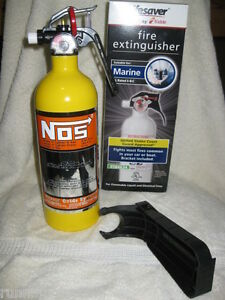 NEW Yellow Fire Extinguisher NOS NITROUS BOTTLE DECAL NX ZEX Rat Rod Car Show