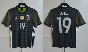 Germany #19 Mario Gotze 2016/17 Away Football Shirt Soccer Jersey Men's Sz M (S)