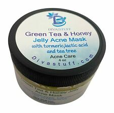 Green Tea and Honey Jelly Acne Mask, With Turmeric, Lactic Acid and Tea Tree