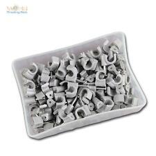 100 Kabelschellen grau, für Kabel max Ø6mm, Kabelschelle Nagelschellen Nagelclip