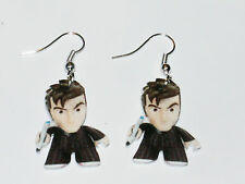 Doctor Dr Who David Tennant 10th Dr Doll Earrings HANDMADE PLASTIC CHARMS