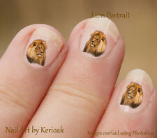 Lion, king of the jungle  24 Unique Designer Cat Nail Art Stickers Decals