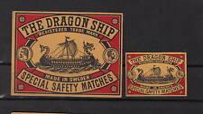 Ancienne   étiquette      allumettes Suède  AZ770 Drakar Bateau 1