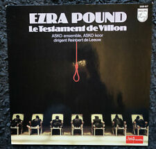 Ezra Pound / Asko Ensemble ‎– Le Testament De Villon (LP)