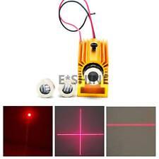 650nm 100mW Laserdiode Modul 3in1 Punkt /Linie/Kreuz w 12mm Kühlkörper/Halter
