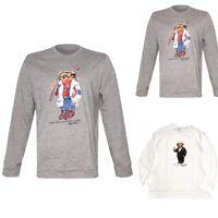 POLO RALPH LAUREN Mens Limited Edition Martini Ski Bear Long Sleeve T-Shirt Tee