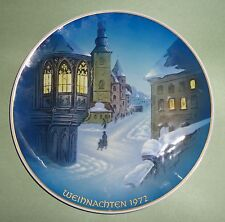 ROSENTHAL WEIHNACHTEN 1972 CHRISTMAS PLATE Christmette Franconia MIDNIGHT MASS