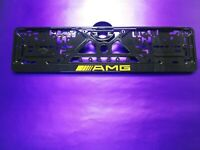 Mercedes-Benz AMG license plate holder Carbon look Bracket Bracket Surround