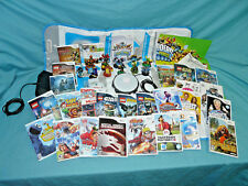 Nintendo Wii Lot Console, Games, Fit Board, Draw Pad, Remotes, Nunchucks MORE NR