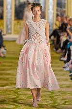 Simone Rochas  Pink Kimono Jacquard Bubble Full Skirt Size:US:4 /UK:8 $2325 NWT