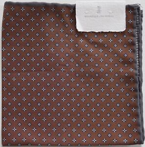 NWT Authentic BRUNELLO CUCINELLI Pocket Square Pochette Handkerchief